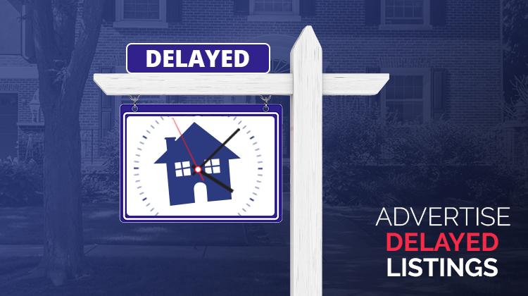 Advertise Delayed listing