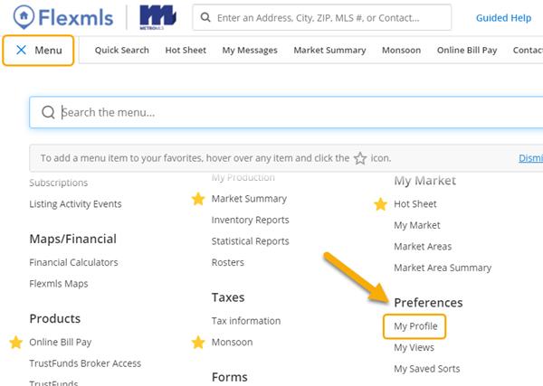 Flexmls Homepage Updating Contact Info Update