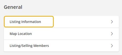 Listing Information General Flexmls