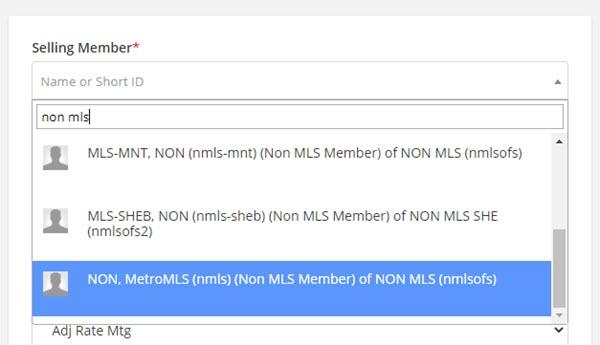 Non MLS Member in Flexmls
